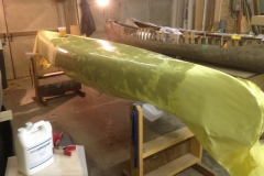 Covering a Canoe with Kevlar and Epoxy