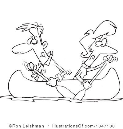 Couples Canoeing