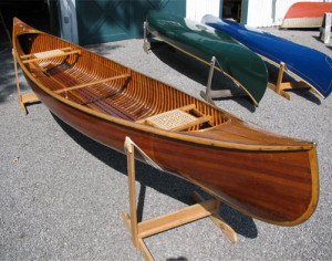 Restored Antique Cedar Strip Canoe